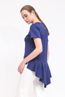 Flounder Top - Navy Blue