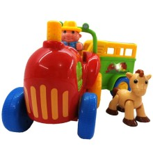 Kiddieland Activity Tractor With Trailer