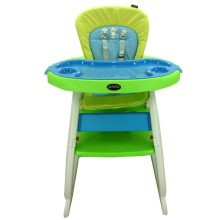 High Chair Pliko 505 2in1 (Kursi Makan & Meja Belajar) - GREEN