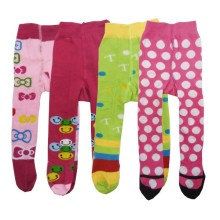 Babylonish1 Stocking anak/Legging anti slip usia 6-12bln - Green Pink @4pcs