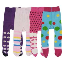 Babylonish1 Stocking anak/Legging anti slip usia 6-12bln - Purple Blue @4pcs
