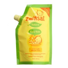 Zwitsal Natural Baby Bath 2in1 Minyak Telon 250ml Refill Pouch