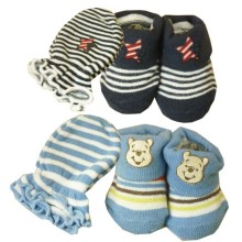 Babylonish Kaos Kaki Tangan 1 set  - paket 5 : Blue Pooh + Rock Star