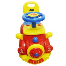 Ride-on Car Pliko PK556 Happy Train Dreamcar Keeping Mobil Mainan Anak-Red