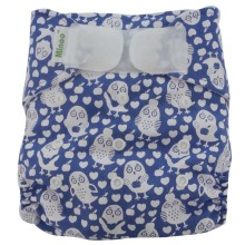 Minoo Cloth Diapers - Owl Purple