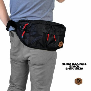 SLING BAG FULL BLACK5839