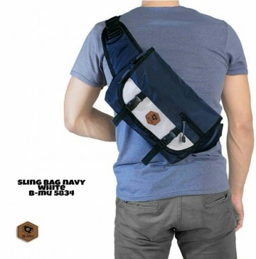 SLING BAG NAVY MIX WHITE 5834