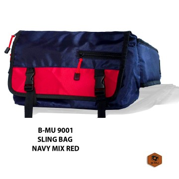 SLING BAG NAVY MIX MERAH 9001
