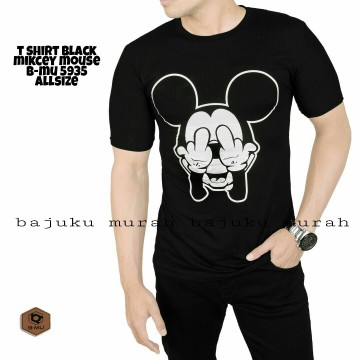T SHIRT DISTRO HITAM MICKY MOUSE 5935
