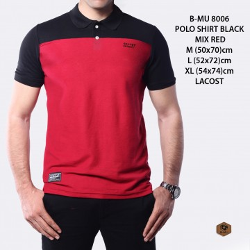 POLO SHIRT ABU MIX MERAH 8006