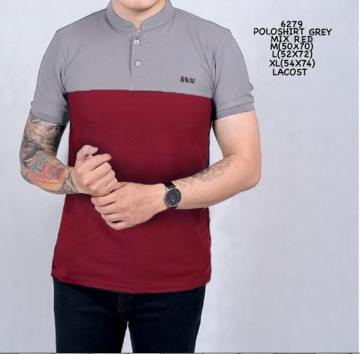 POLO SHIRT ABU MIX MERAH 6279