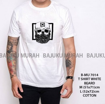 T SHIRT DISTRO PUTIH BEARD 7014