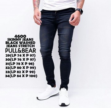 CELANA SKINNY JEANS BLACK WASHED 4600