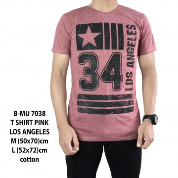 T SHIRT DISTRO PINK LOS ANGELES 7038