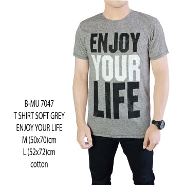 T SHIRT DISTRO ABU MUDA ENJOY YOUR LIFE 7047