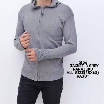 JAKET RAJUT DARK GREY 5156