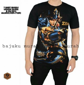TSHIRT BLACK ZILONG MOBILE LEGENDS 5942