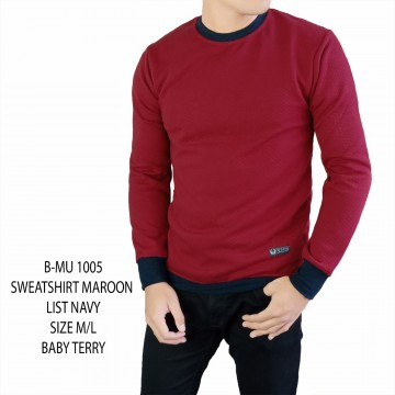 SWEATSHIRT RED LIST NAVY 1005