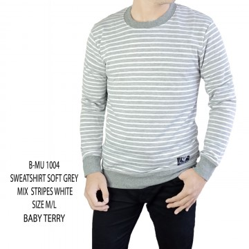 SWEATSHIRT ABU MUDA STRIP WHITE 1004