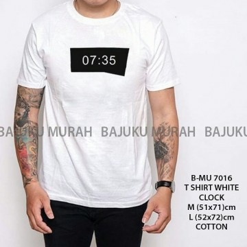 TSHIRT DISTRO PUTIH CLOCK 7016