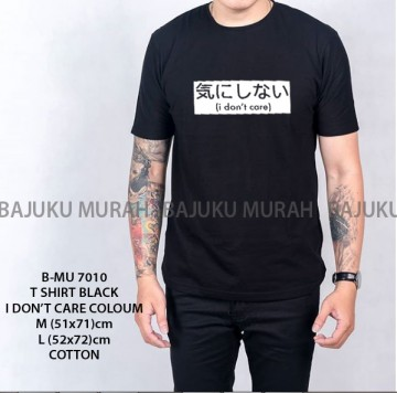 TSHIRT DISTRO BLACK I DON'T CARE COLOUM 7010