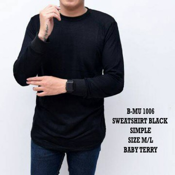 SWEATSHIRT BLACK SIMPLE 1006