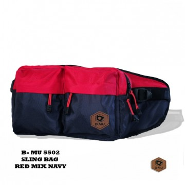 SLING BAG RED MIX NAVY 5502