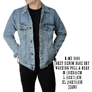JAKET DENIM BLUE SKY WASHING PULL&BEAR 5008