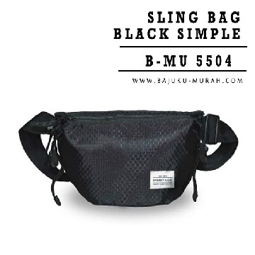 SLING BAG BLACK SIMPLE 5503