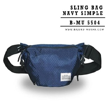SLING BAG NAVY SIMPLE 5504