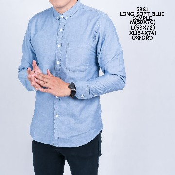 KEMEJA PANJAANG SOFT BLUE SIMPLE 5921