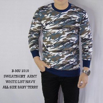 SWEATSHIRT ARMY WHITE LIST NAVY 1019