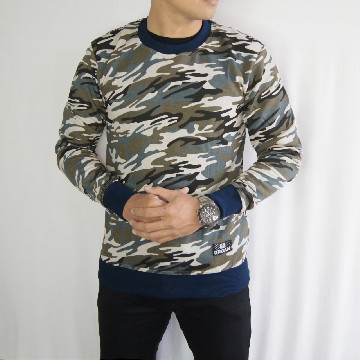 SWEATSHIRT ARMY BROKEN WHITE LIST NAVY 1020