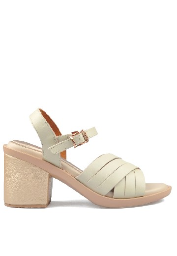 Odelia Heels Sandals Broken White