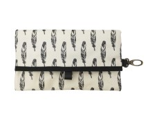 Tissue Travel Pouch Feathers Beige