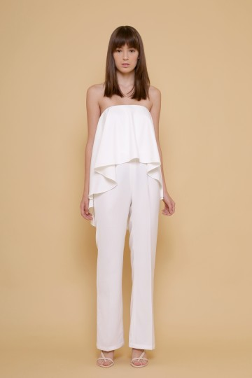 The Grace Jumpsuit in White image