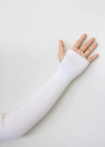 Handsock Thumbhole White