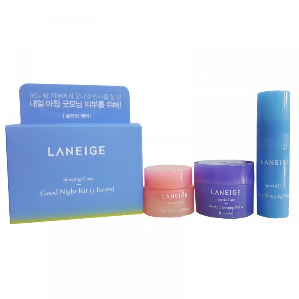 Laneige Good Night Sleeping Care Kit 3 Items Lip Mask 3gr Prevnext