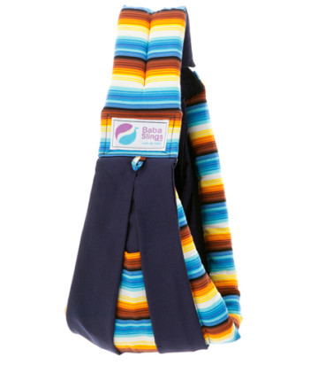 Baba Slings Stripes - Mexican Sunset Navy image