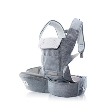 POGNAE NO. 5 PLUS Baby And Hipseat Carrier | Denim Grey image