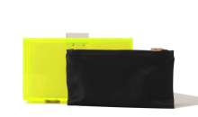 Neon Perspex Clutch - Yellow