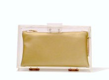 Basic Perspex Clutch - Gold