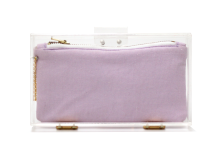 Basic Perspex Clutch - Purple