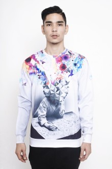 White Mind Blow Multicolor Sweatshirt
