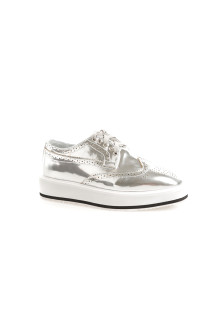 Silver Oxford Platform Shoes