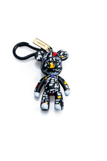 Abstract Bear Keychain