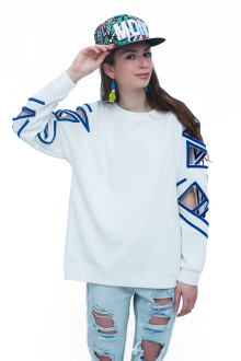 White Pop Lasercut Sleeves Detail