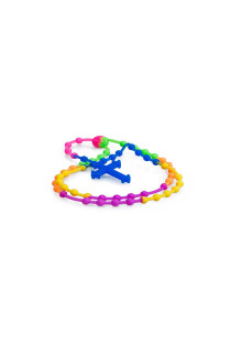 Rainbow Blue Rubber Rosario