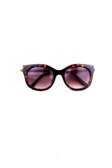 Brown Bold Cat Eye Sunglasses