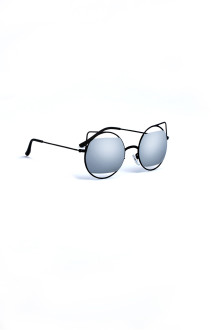 Silver Lense Cat Ear Frame Sunglasses